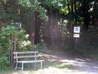 Eingang zum Müritz-Nationalpark neben dem Haus