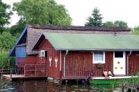 Bootshaus III in Damerow mit Badeterrasse