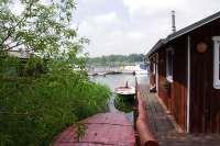 Bootshaus III in Damerow mit Ruderboot