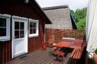 Bootshaus III in Damerow Frühstücksterrasse